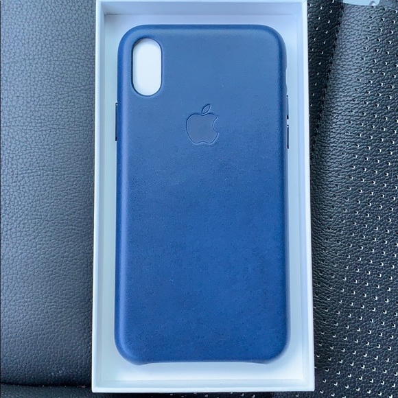 the best attitude 95e63 3ea49 iPhone X Leather Case : Midnight Blue